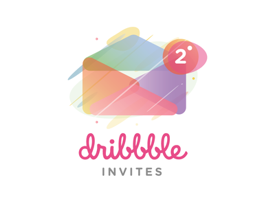 Dribbble Invites invite vector art modisana vector color colour illustration