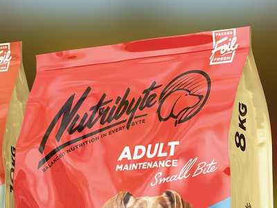 Nutribyte Premium Pet Food Branding south africa modisana graphic design dog food grid building website design branding logo