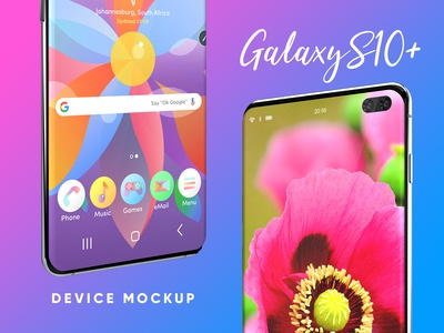 Samsung Galaxy S10 Plus Device Mockup