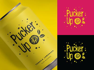 Pucker Up Tequila Lemonade rebound logo illustration branding design graphic design