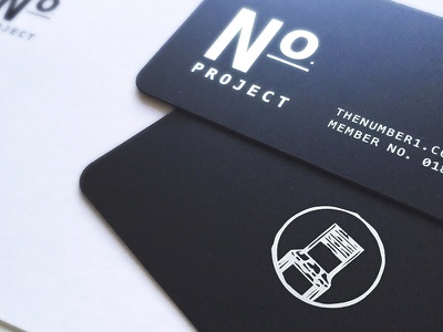 The Number Project Membership Cards print design metal chair illustration cards