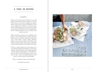 The Number Project No.6 modern clean magazine booklet design print