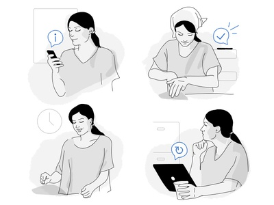 Illustrations for a customer storyboard
