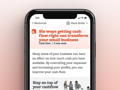 Fido Resources small business finance app iphone x