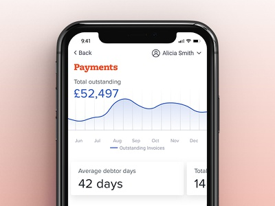 Fido Payments business finance mockup concept app