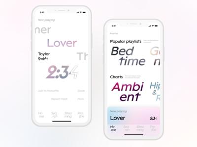 Typographic SoundCloud Concept
