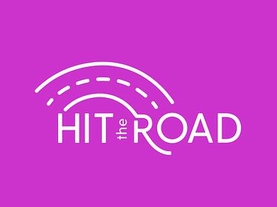 Hit The Road Logo type newsletter logo