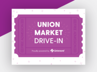 Union Market Drive In Event Flyer