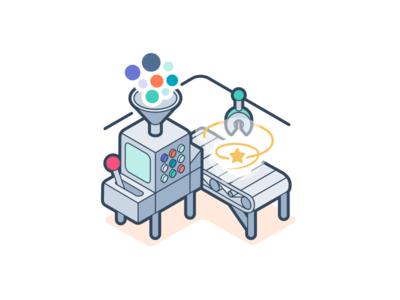 Marketing Enterprise automation funnel conveyor machine robot workflows hubspot enterprise marketing