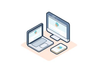 Website Platform responsive website monitor desktop mobile iphone laptop macbook mac