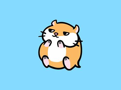 Suspicious Hamster chubby cute pet animal orange hamster grin suspicious