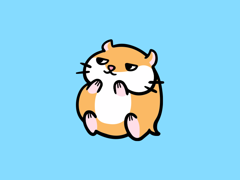 Suspicious Hamster chubby cute pet animal orange hamster grin suspicious