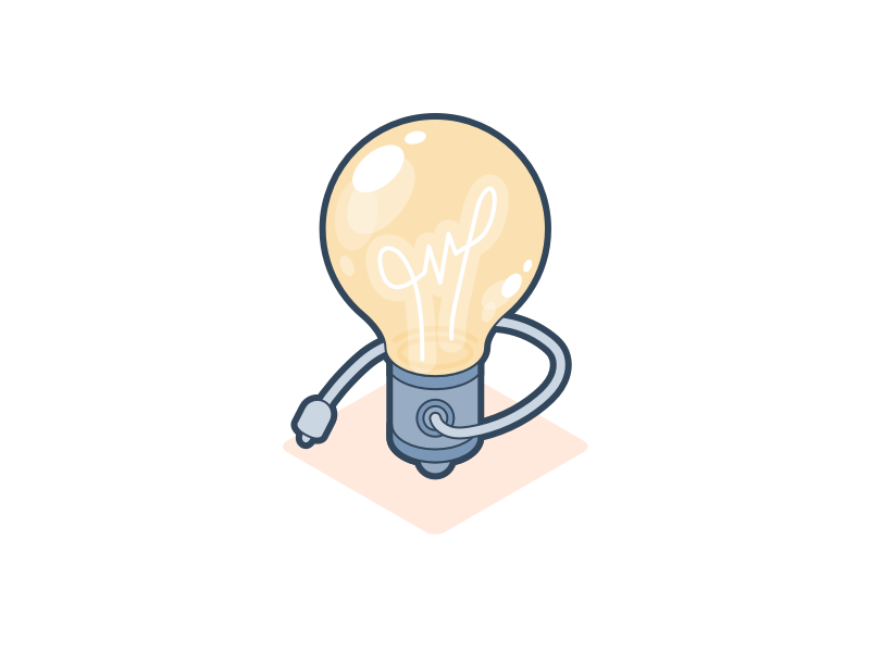 Idea vector illustration lighting isometric bulbs shine shiny bright lightbulb light bulb idea