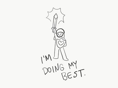 i'm doing my best