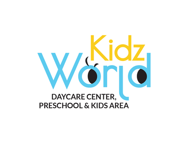 Kidz World Nursery Logo identity kids daycare preschool nursery branding logo
