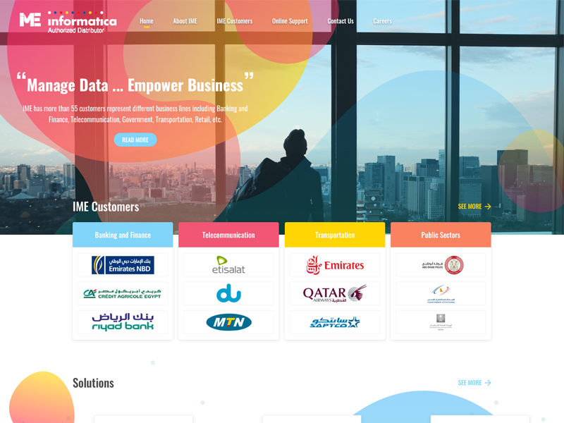 Big Data Website by Rotana Rezk on Dribbble