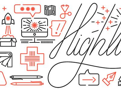 Highline Illustrations highline design company line icons