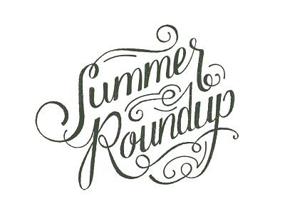 Summer Roundup Logo summer roundup logo handlettering