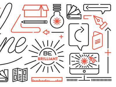 Highline brand 2 highline design company line icons