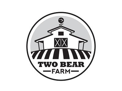 Two Bear Farm Logo sketch logo logo sketch farm barn