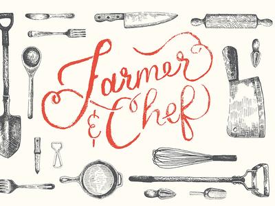 Farmer And Chef logo and branding