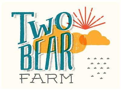 Two Bear Farm brand sketch brand sketch sun ray hand lettering farm