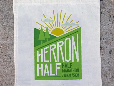 Herron Half logo hills running herron half race half marathon logo