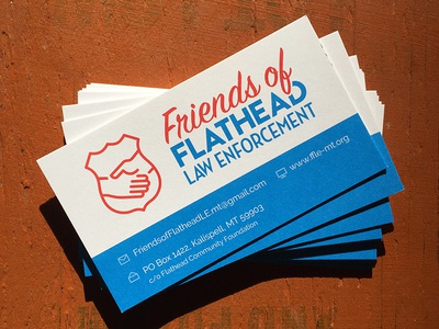 Friends of Flathead Law Enforcement logo and cards