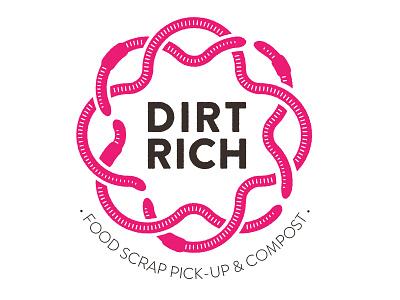 DIRTRICH logo flower dirtrich pink worm compost logo