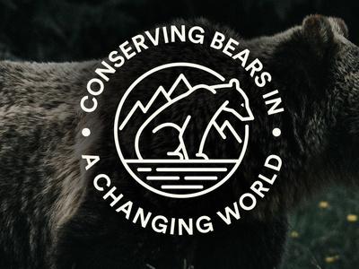 International Bear Association Conference Logo conference logo conservation bear bear logo logo