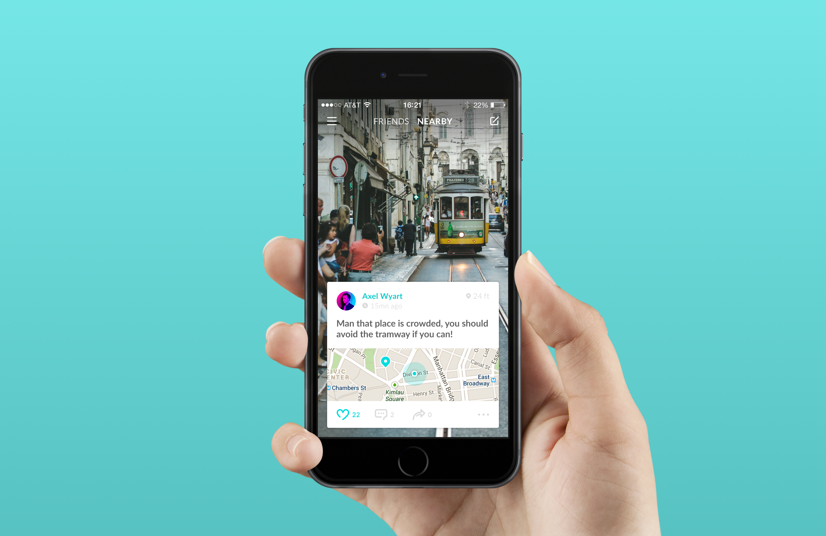 App 2 dribbble realsize