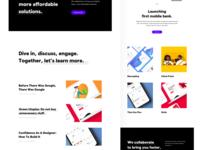 Landing Page - Concept portfolio elements simple clean interface simple illustration landingpage website webdesign design uiux ui user experience user interface