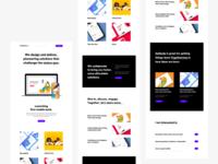 Landing Page - Preview concept illustration landingpage portfolio design uidesign webdesign website ux user interface ui user experience user interface