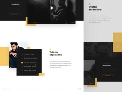 Projekt TV Concept V2 yellow website webdesign web simplicity page minimalist landing icons elements black