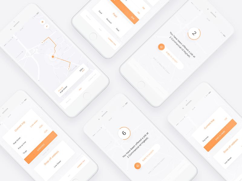 Mobile App Concept V2 uidesign mobile minimalist ios interface design clean app
