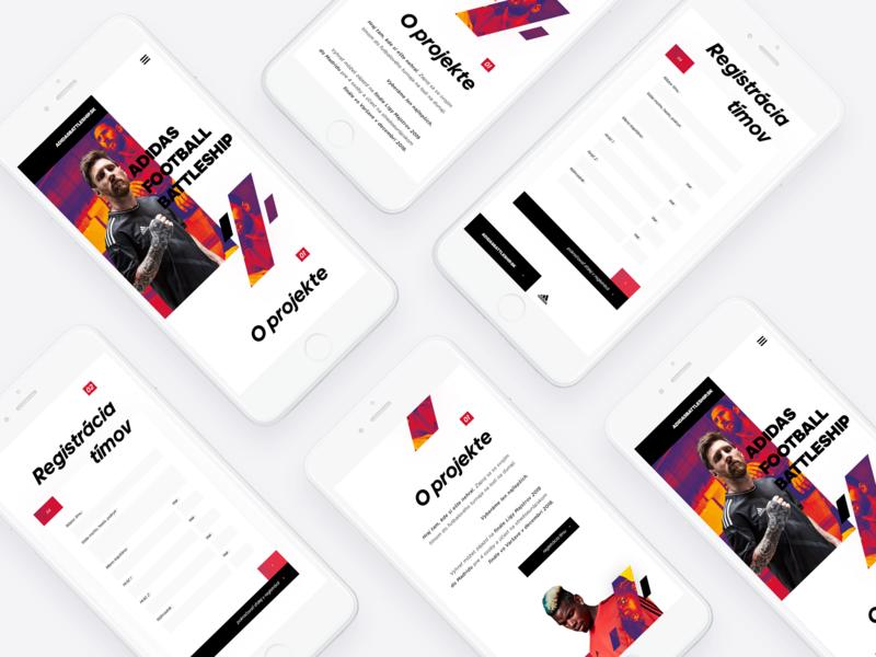 Adidasbattleship.sk - Mobile Version vol. 1 adidas uxdesign ux uidesign app mobile minimalist ios interface design clean app design