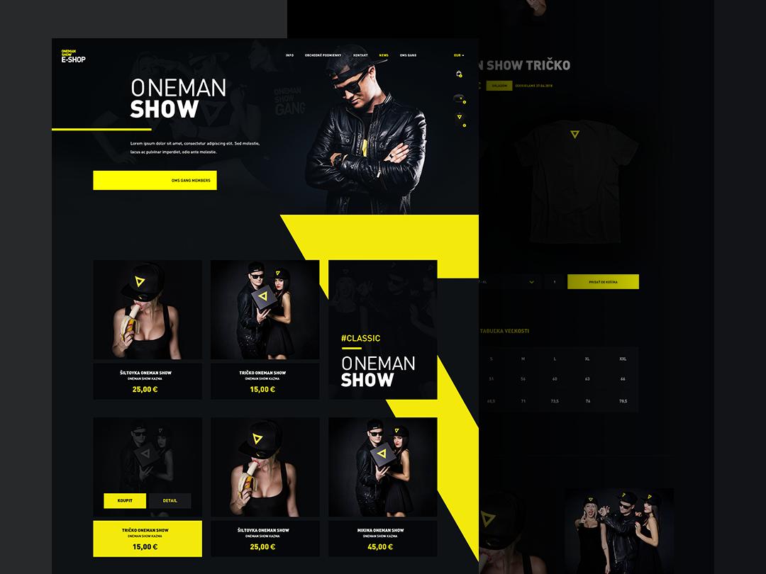 One Man Show - Eshop eshop website webdesign homepage clean uidesign interface page landing simplicity elements minimalist