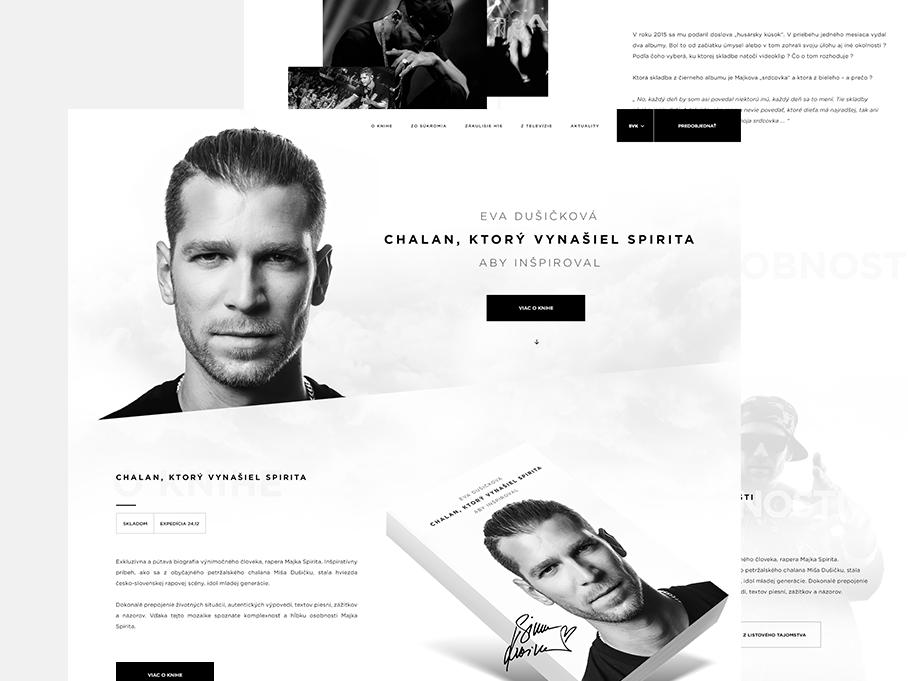 Majkspirit.sk black homepage uidesign interface page landing webdesign simplicity elements clean website minimalist