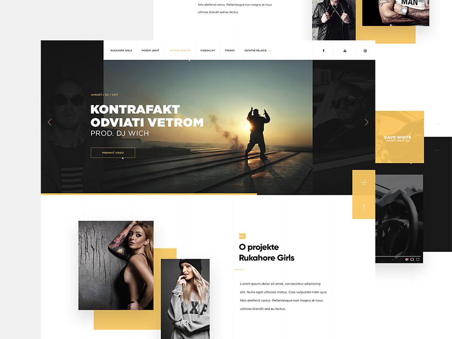 Projekt TV - Homepage homepage uidesign interface page landing webdesign simplicity elements clean website minimalist