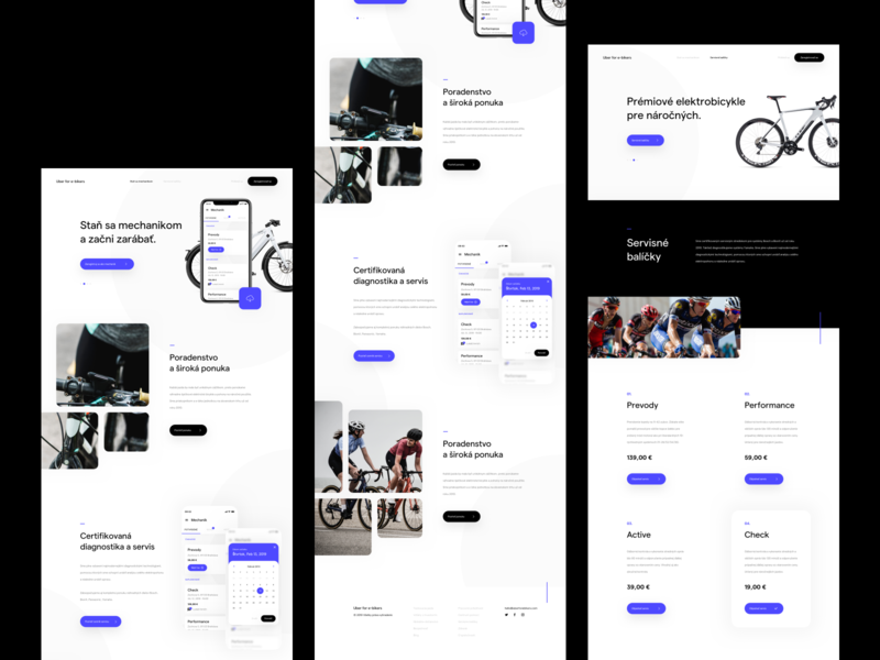 Uber for e-bikers - Preview homepage uidesign page landing webdesign simplicity website elements clean minimalist