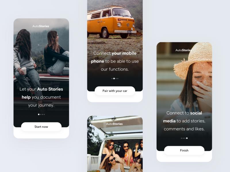 Autostories - Concept iphone ios ux user interface design mobile app design mobile app mobile ui app