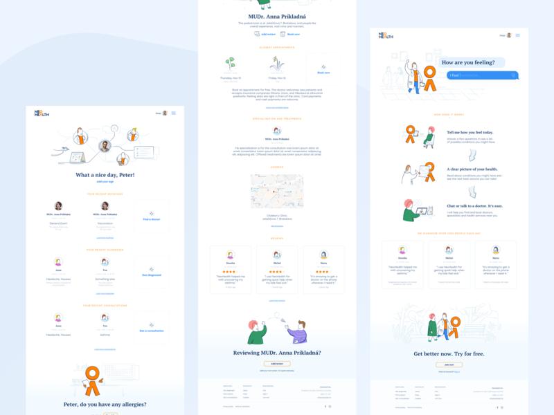 Lekar.sk - Preview desktop healthcare app user experience user interface landing page website design webdesigns clean