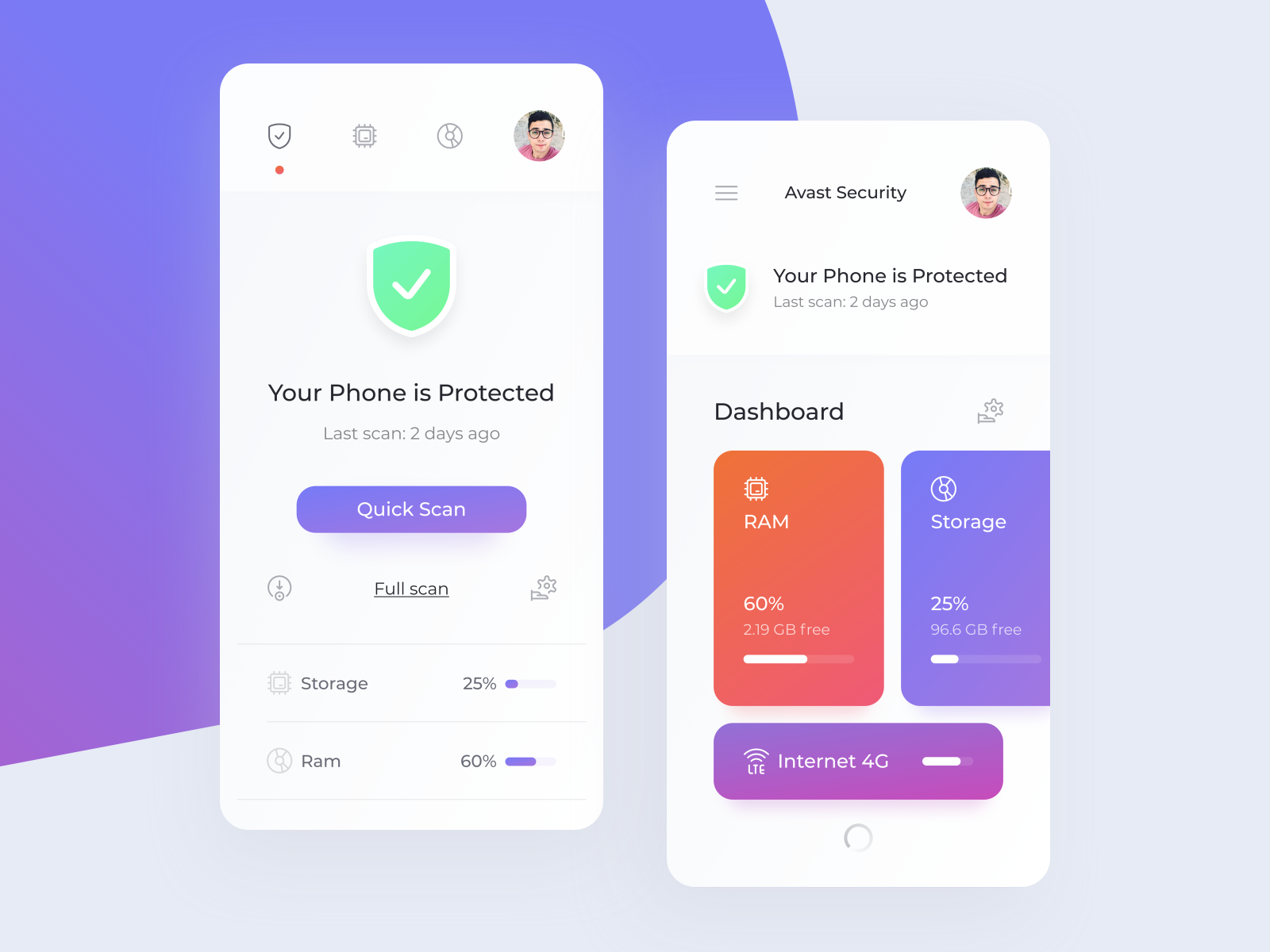 Avast Mobile Security - Concept by Peter Kamenický for