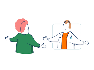 Lekar.sk - Illustrations III. after effects ae illustration after effects animation healthcare doctor online doctor medical app medical care medical