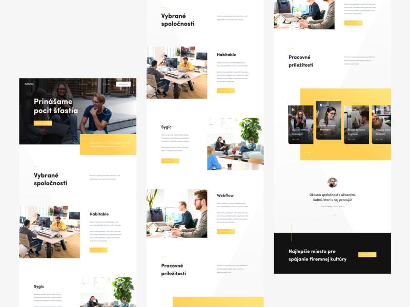 Kulturea - Landing Page Concept job culture people concept website concept landing page user experience ux ui user interface website webdesign