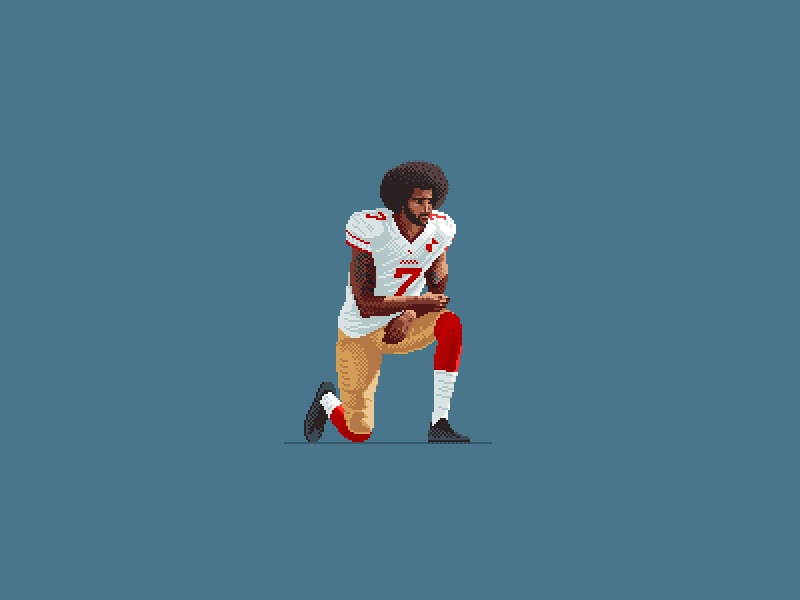 Pixel Kaepernick kaepernick 8-bit pixel pixels illustration photoshop football sports 8-bit art pixel art