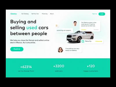 Header - Used cars' website exploration landingpage page landing home redesign product design ux animation used user car ecommerce header
