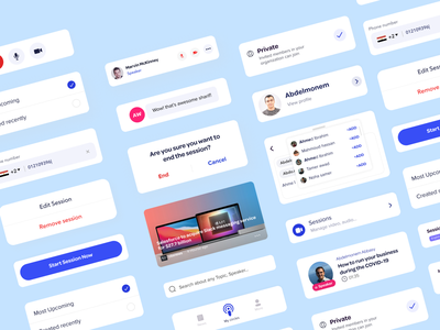 App Components ⭐ home redesign product design ux design ui video app components