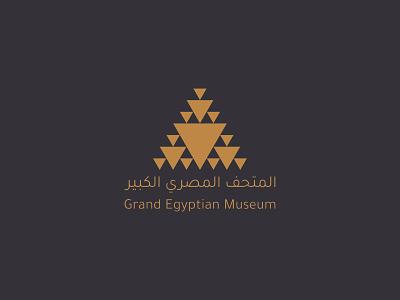Grand Egyptian Museum - Logo Concept logo design logo design branding identity branding logo
