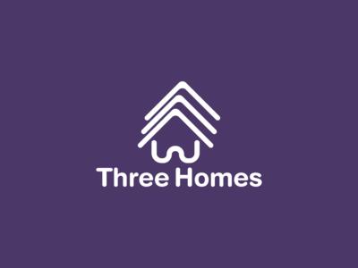 Three Homes Logo